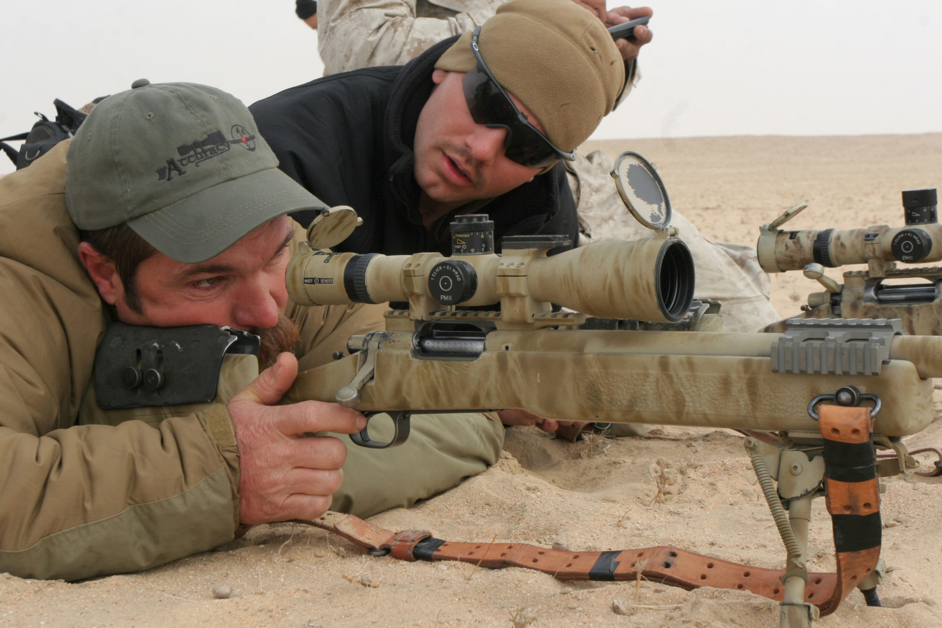 Todd Hodnett on the rifle