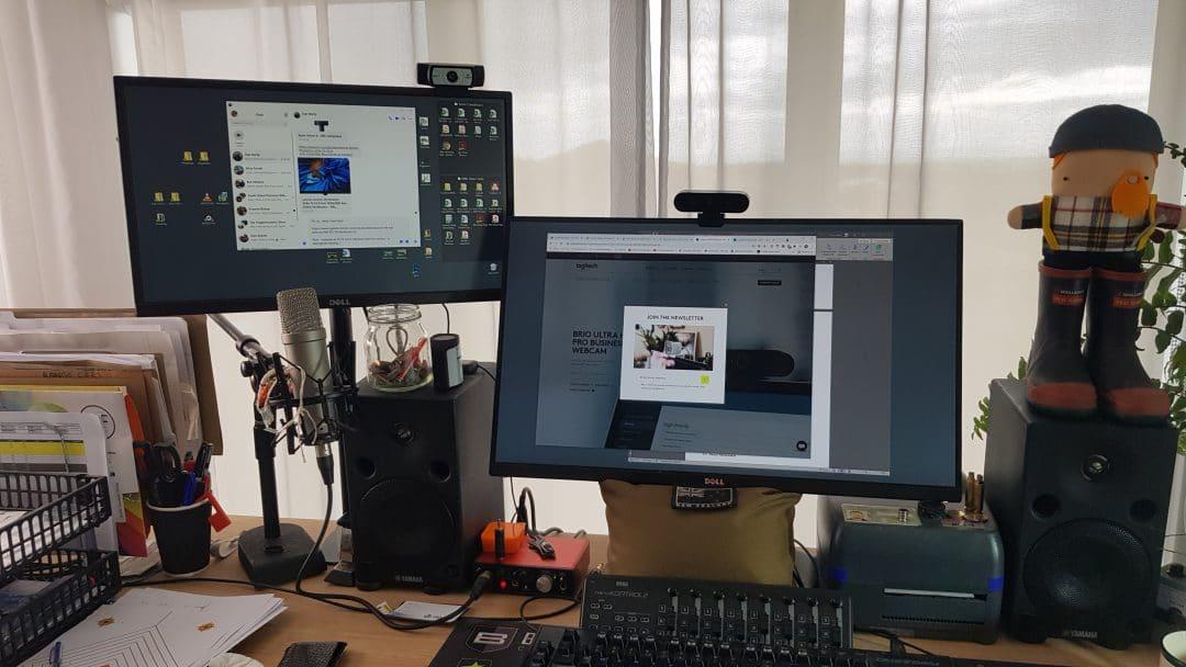 , My home video/webcam setup.